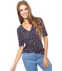 remera azul tommy hilfiger new jada v-nk top  slv