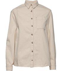 alchemy classic shirt långärmad skjorta beige superdry