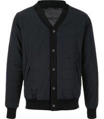 fumito ganryu v-neck bomber jacket - blue