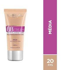bb cream l'oréal paris cor média fps 20 30ml