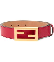 fendi ff buckle baguette belt - red