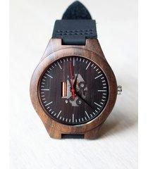 drewniany zegarek skeleton