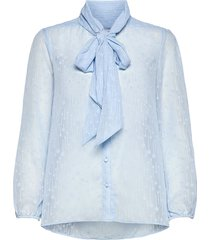 elenorasz shirt blouse lange mouwen blauw saint tropez