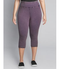 lane bryant women's livi signature stretch active capri legging 22/24 purple