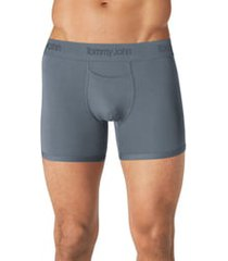 tommy john second skin 4-inch boxer briefs, size small in turbulence grey at nordstrom
