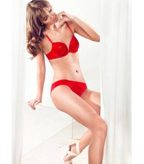 parah lingerie dames zijden push up bh rood