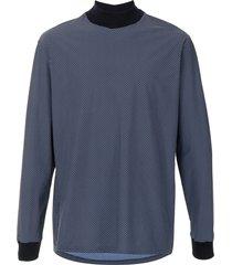 giorgio armani diamond-patterned shirt - blue