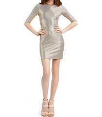 delora fitted metallic mini dress