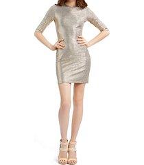 delora fitted metallic mini dress