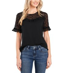 cece embroidered ruffled top