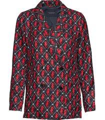 double breasted loose blazer blazer colbert multi/patroon scotch & soda