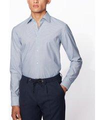 boss men's jango light pastel blue shirt