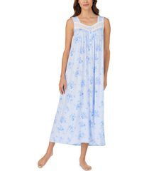 eileen west lace-trim floral-print ballet nightgown