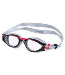 óculos de natação vulcan cinza e vermelho