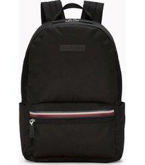 tommy hilfiger men's solid logo backpack black -