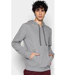 blusa moletom forum básica com capuz bolso canguru masculina