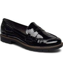 woms slip-on loafers låga skor svart tamaris