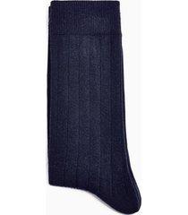 mens navy ribbed socks