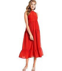vestido sl marisol maxi rojo guess