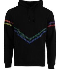 multicolored chain print hoodie