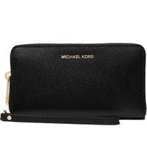 michael kors jet set black wallet