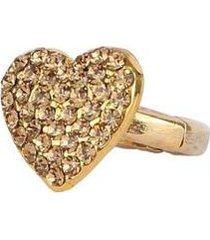 anel armazem rr bijoux regulável coração - feminino