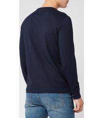 polo ralph lauren men's long sleeve basic cotton top - ink - xl