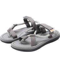 verano nuevo estilo sandalias masculinas-gris