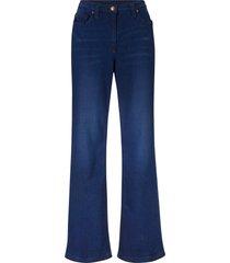 jeans in cotone elasticizzato larghi a vita alta con cinta comoda (blu) - bpc bonprix collection