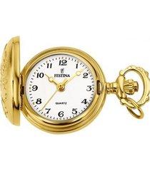 reloj bolsillo dorado festina
