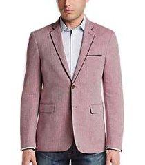 1 like no other red herringbone slim fit sport coat