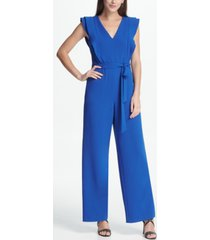 dkny ruffle detail jumpsuit