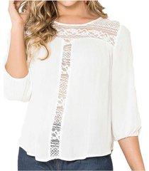 blusa alissa blanco para mujer croydon