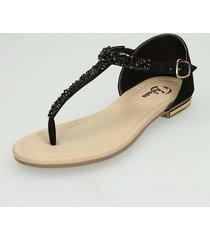 sandalias negro bata ushaina r mujer
