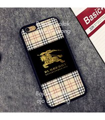 burberry black gold case for iphone 5 5s 6 6s plus 7 7plus 8 samsung s edge +