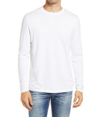 men's ag clyde men's long sleeve t-shirt, size medium - white