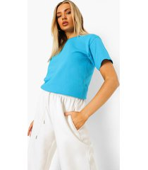 basic t-shirt, bright blue