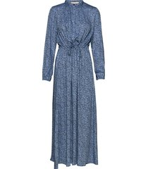 aviaja ls ankle dress maxi dress galajurk blauw soft rebels