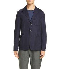 men's barena venezia torceo navy wool sport coat