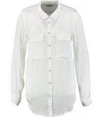 replay witte blouse satijnzijdelook