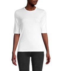 vince women's pima cotton-blend top - optic white - size xs