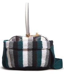 cashmere crochet shoulder bag