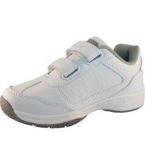 zapatilla escolar blanco white/grey lag
