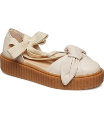 bow creeper sandal shoes summer shoes flat sandals creme puma