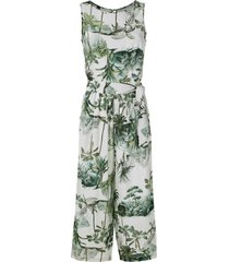 lygia & nanny jade printed cropped jumpsuit - multicolour