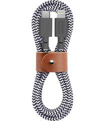 native union belt lightning to usb-c charging cable, size one size - black
