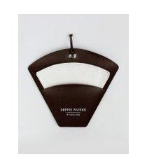 amaro feminino design up living porta filtro de café 25,5x21,5, marrom