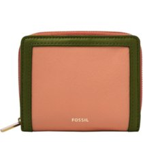 fossil logan mini multifunction leather wallet