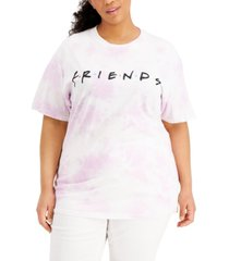 love tribe plus size friends tie-dyed graphic t-shirt
