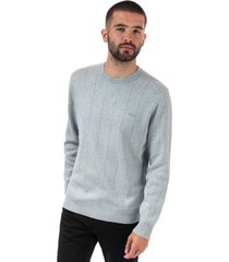 mens crew neck cotton and cashmere sweatshirt